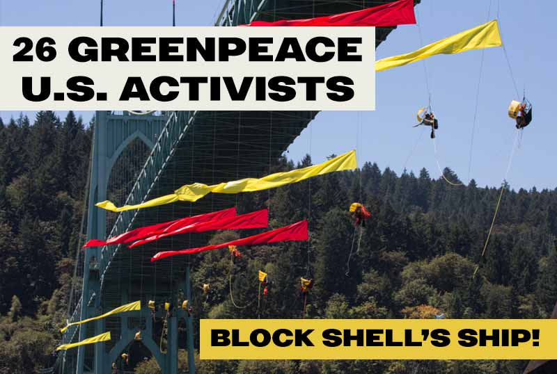 Activists on the bridge