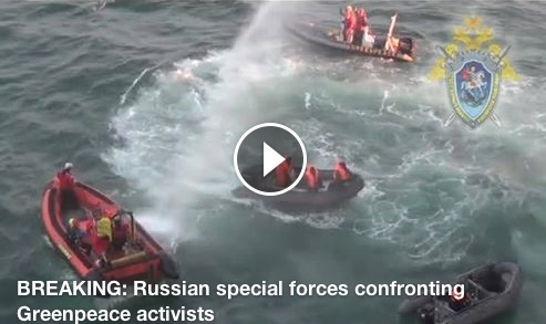 Video from Gazprom's oil rig
